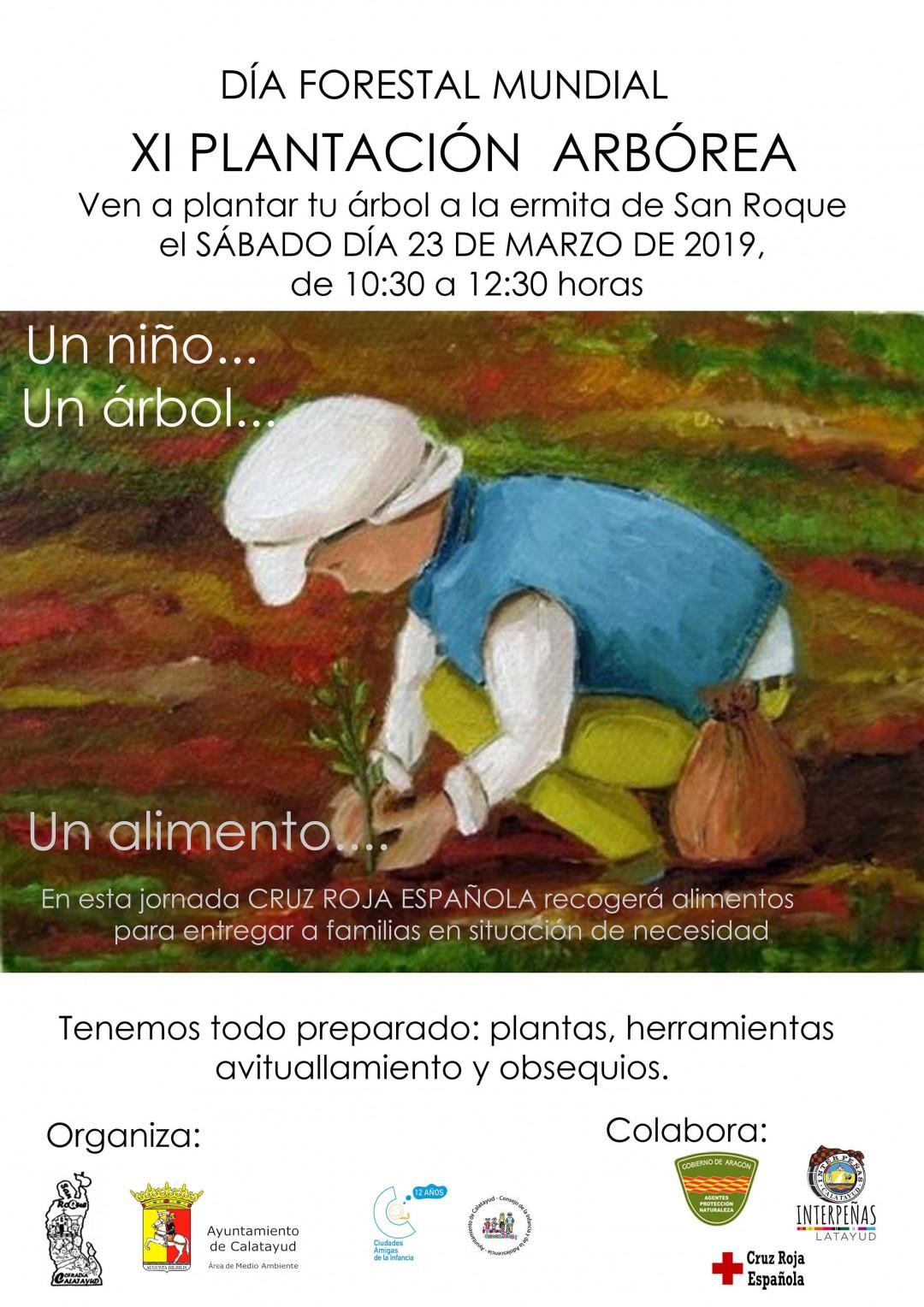 cartel plantacion arborea