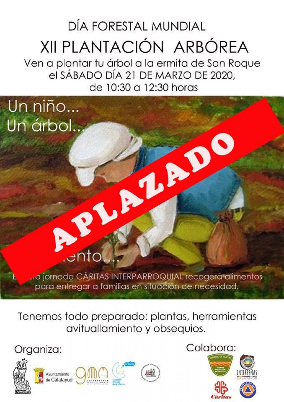 CARTEL APLAZADO PLANTACION ARBOREA