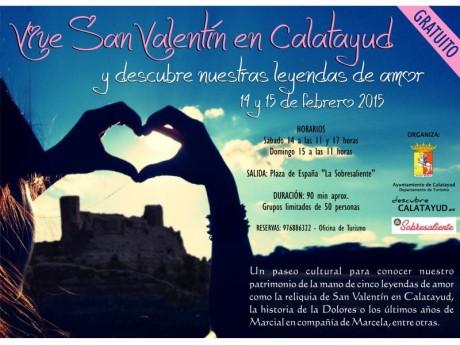Cartel San Valentín 2015 en Calatayud