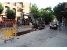 Continúan las obras en la calle Marcial tras el parón festivo
