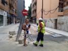 Primeros trabajos en la plaza Correa