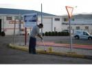 Comienza el pintado de señalización horizontal en La Charluca
