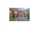 Obras para evitar el deterioro de los pilares del claustro en el Museo de Calatayud