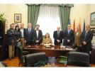 La consejera de Educación, Cultura y Deporte, Mayte Pérez, visita Calatayud