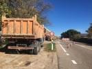 Obras en la carretera de Terrer para estabilizar taludes