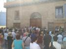 Más de 100 personas se concentran en Calatayud en contra de los atentados de Barcelona