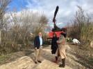 Actuación en las riberas del Jalón para eliminar tapones y árboles en mal estado