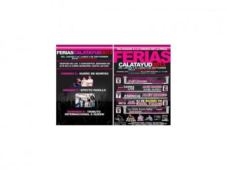 Cartel de las actuaciones musicales