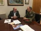 El delegado de Defensa en Aragón, Conrado Cebollero, visita Calatayud
