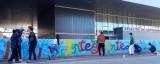 El CRAP Calatayud de Rey Ardid crea un grafiti por la integración en la estación de autobuses