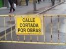 Corte de tráfico en Rúa de Dato  por obras de urgencia