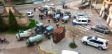 Nueva batida de desinfección de los agricultores en Calatayud