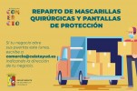 El Ayuntamiento entrega equipos de protección a los negocios que abren sus puertas el lunes día 4