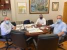El alcalde y el teniente alcalde se reúnen con la Asociación de Reservistas 45+