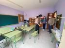 El alcalde y la concejal de Educación cierran las visitas a colegios en el Salvador Minguijón