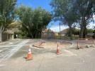 Una nueva rotonda mejora la entrada en la pedanía de Huérmeda