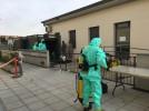 El Escuadrón de Apoyo al Despliegue Aéreo desinfecta la Residencia de Amibil