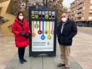 Un mini punto limpio en el paseo Cortes de Aragón para la recogida de pequeños residuos domésticos