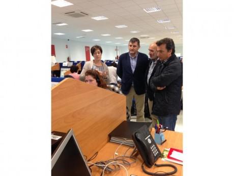 El alcalde visita la planta de GSS