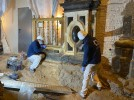 Los trabajos en Santa María desvelan restos de una mezquita y cerámicas romanas y celtibéricos