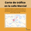 Corte de tráfico en la calle Marcial