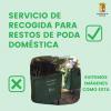 El Ayuntamiento cuenta con un servicio de poda doméstica para evitar vertidos incontrolados