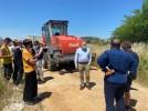Se inicia la reparación de caminos agrícolas con la llegada de maquinaria de DPZ