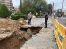 Resuelta la avería en una tubería de la Plaza Islas Canarias